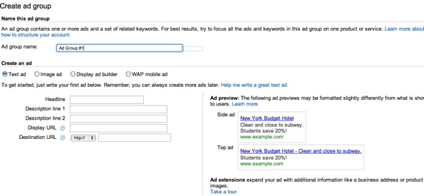 AdWords Preview Copy