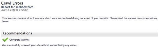 Alexa Site Audit Crawl Errors
