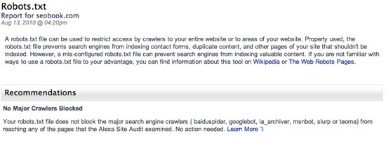 Site Audit Robots.Txt