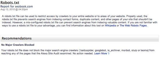 Site Audit Robots.Txt