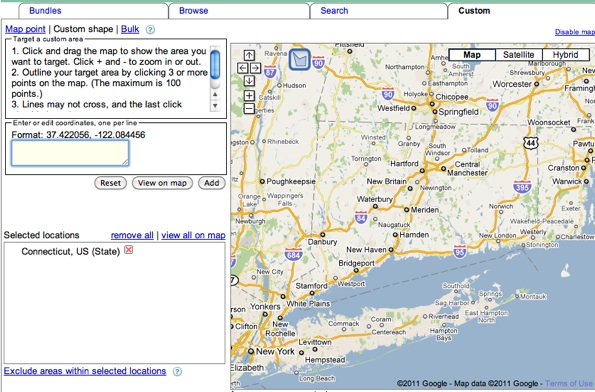 Custom Map Dialog Box