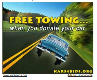 Google Car Donation Ad.