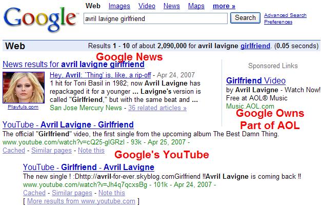 Google Arbitraging Google.