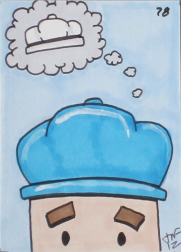 Blue Hat SEO Drawing.
