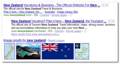 New Zealand Google Results