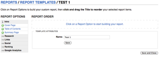 Order Report Template