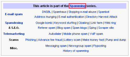 Wikipedia classifies SEO as spamming height=