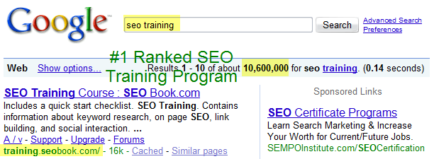 SEO Training.
