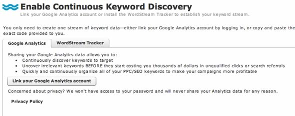 Continous Keyword Discovery