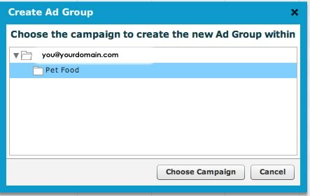 Create Ad Group