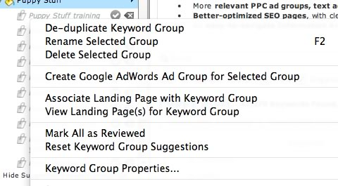 keyword group adwords group integration