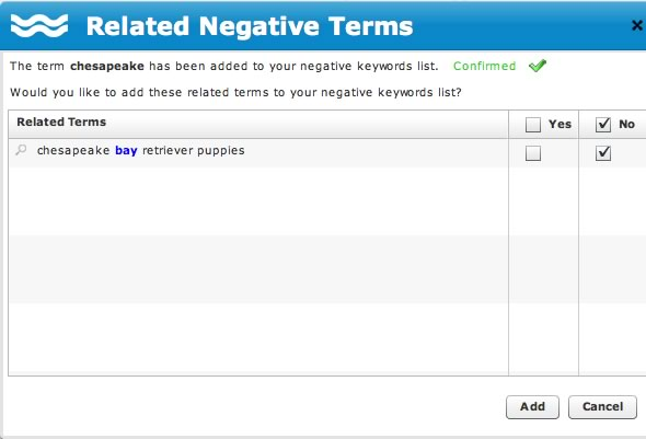 Related Negative Keywords
