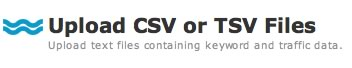 Upload CSV/TSV