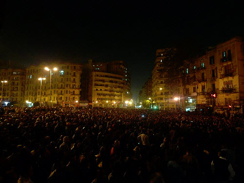 Mob in Egypt. CC Licensed by Al Jazeera.