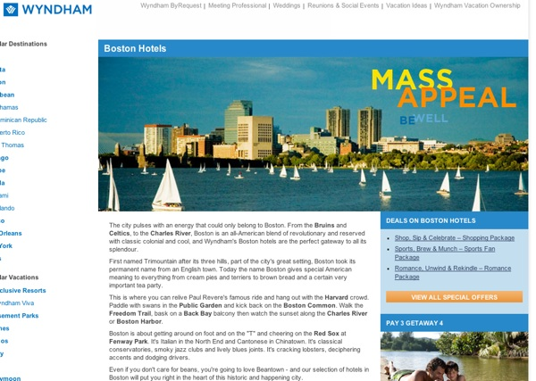 wyndam hotels boston How To Make Awesome Landing Pages for Local PPC
